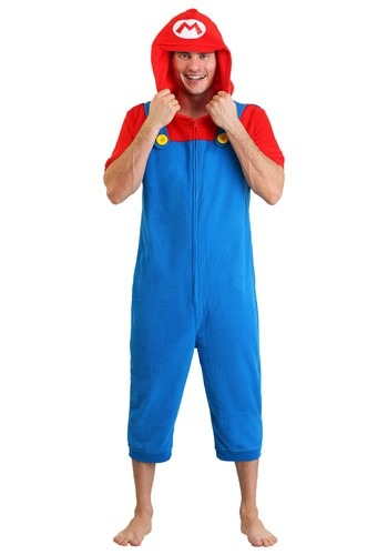 Mario Men's Cosplay Romper