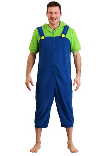 Luigi Men's Cosplay Romper