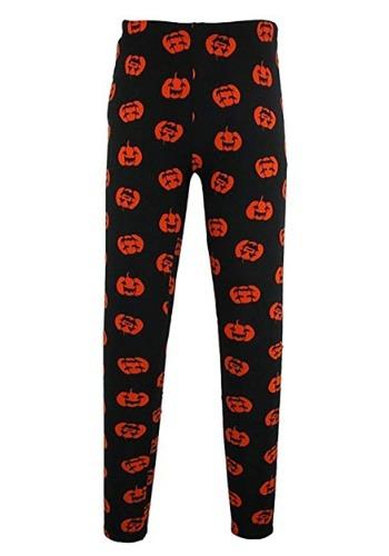 Womens Halloween Pumpkin Leggings