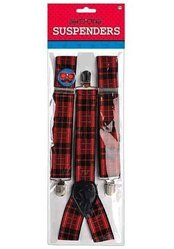 Plaid Nerd Suspenders