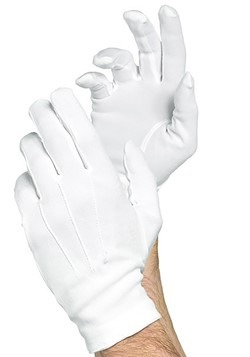 Mens Fancy White Gloves