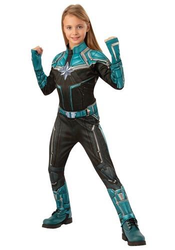 Captain Marvel Kreel Suit Deluxe Girls Costume