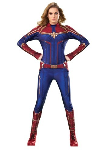 Deluxe Captain Marvel Women's Costume