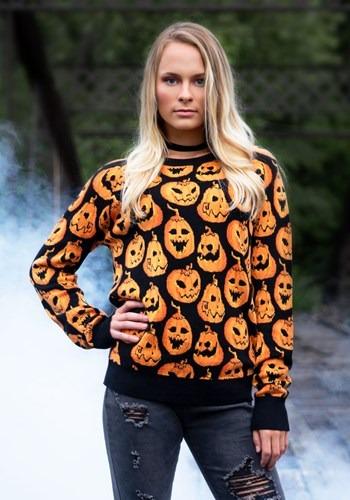 Pumpkin Frenzy Unisex Halloween Sweater 1