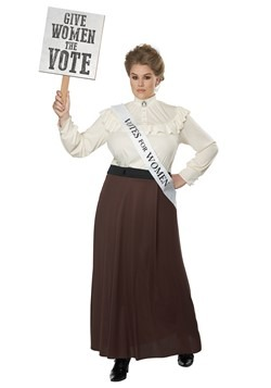 Women's Plus English Suffragette Costume