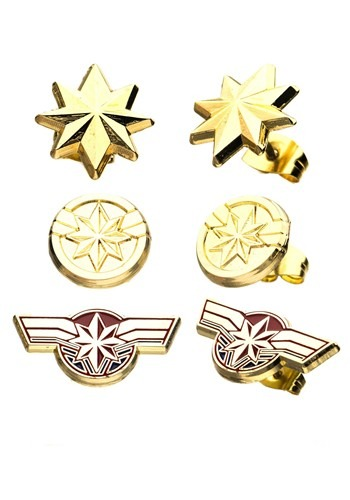 Women's Captain Marvel Earring Studs Set