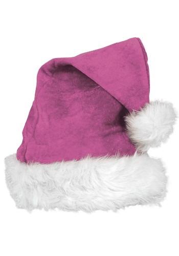 Santa's Deluxe Pink Velvet Hat