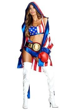 Womens Sexy Get 'Em Champ Boxer Costume