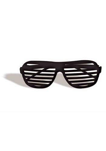 Black 80's Shutter Shades