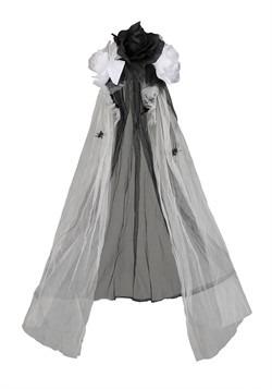 Gothic Black Bridal Veil Accessory