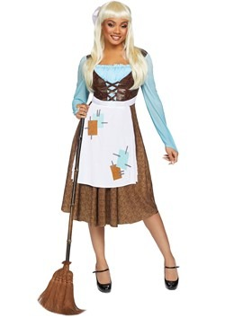 Womens Peasant Cinderella Costume