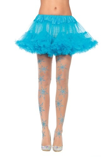 Glitter Snowflake Tights