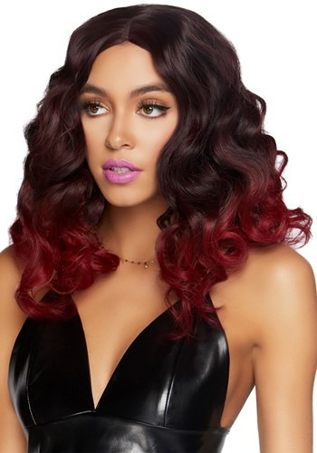 Women's Curly Ombre Burgundy Wig