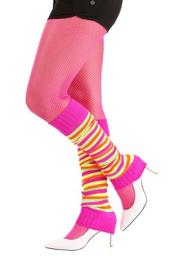 Neon Striped Leg Warmers