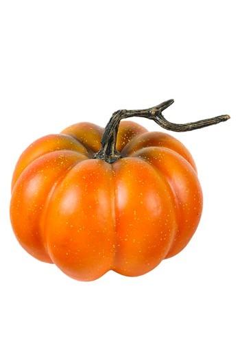 """Round Orange 6"""" Pumpkin Decoration"""