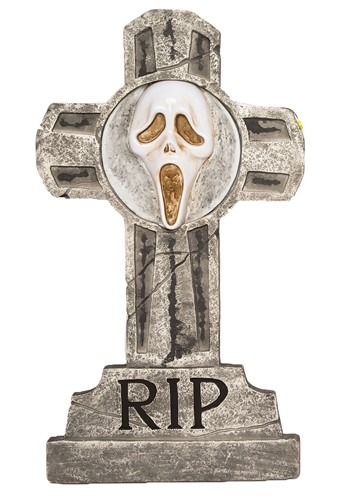 Ghost Face Tombstone
