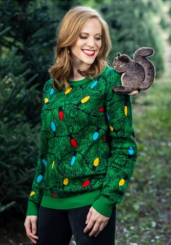 Adult 3D Squirrel in the Christmas Tree Ugly Sweater