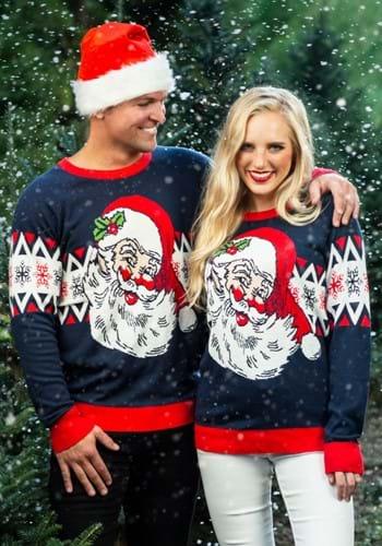 Adult Vintage Santa Unisex Ugly Christmas Sweater