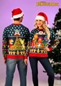 Fraggle Rock Sublimated Adult Ugly Christmas Sweater 1