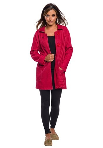 Sabrina Womens Deluxe Coat Costume