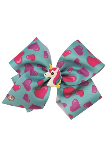 JoJo Siwa Blue Bow with Charm and Braids