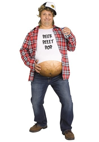 Men's Beer Belly Bob Costume