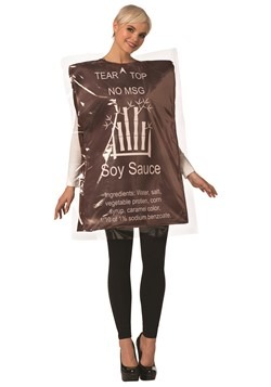 Women's Soy Sauce Packet Costume