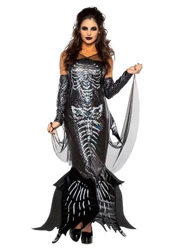 Women's Glamour Skeleton Mermaid Costume