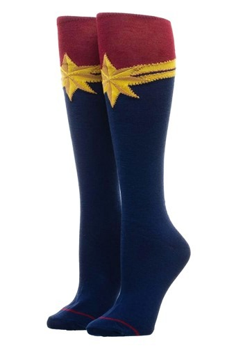 Knee High Captain Marvel Suit-Up Socks1