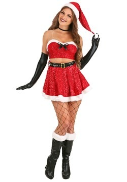 Women's Sexy Sequin Santa Costume