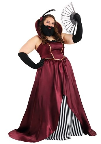 Plus Size Women's Bearded Lady Circus Costume1