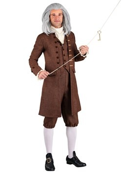 Plus Size Men's Colonial Benjamin Franklin Costume