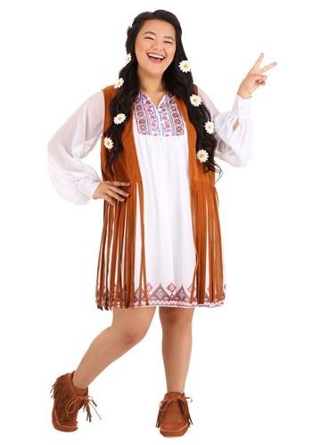 Women's Plus Size 70's Free Spirit Costume