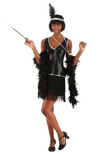 Women's Onyx Flapper Costume