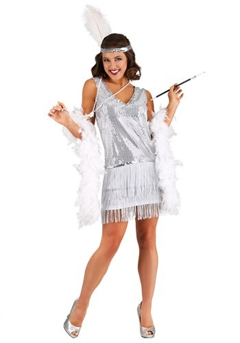 Women's Crystal Flapper Costume