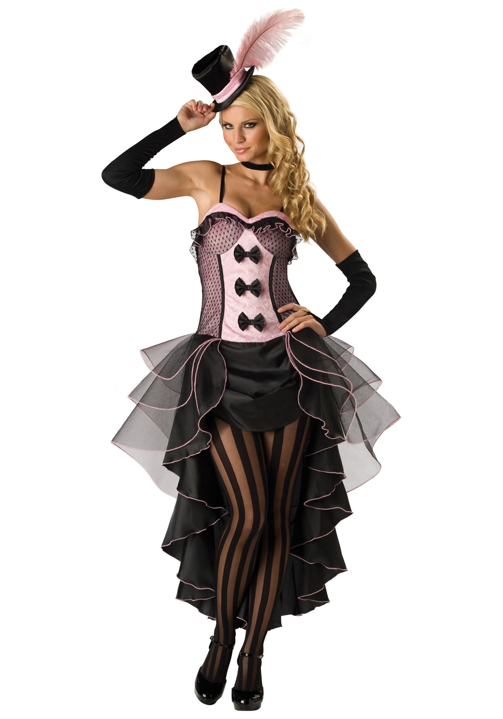 Burlesque Dancer Fancy Dress Costume