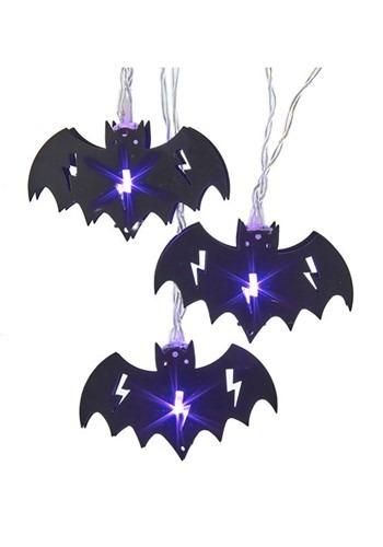 10 Light Purple Bat Lights Set