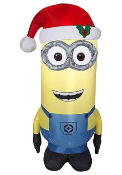 Dispicable Me Inflatable Kevin Minion in Santa Hat
