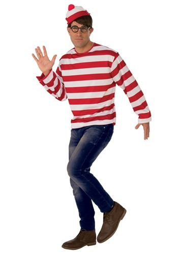Where's Waldo Adult Costume
