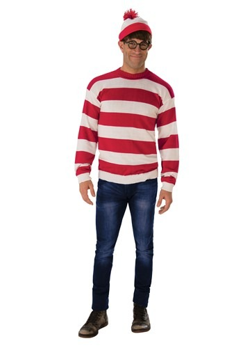 Where's Waldo Deluxe Adult Costume