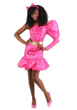 80s Pink Popstar Costume for Women