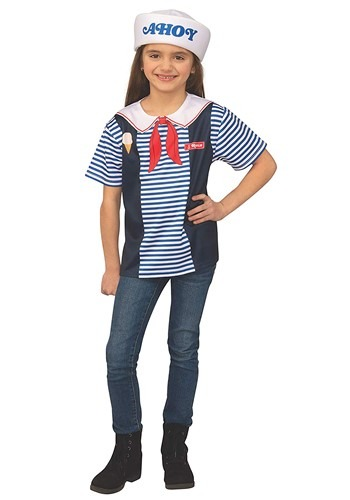 Stranger Things Robin's Scoops Ahoy Uniform Kids Costume