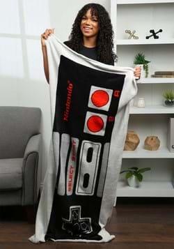 Nintendo Controller Wearable Pocket Throw Blanket