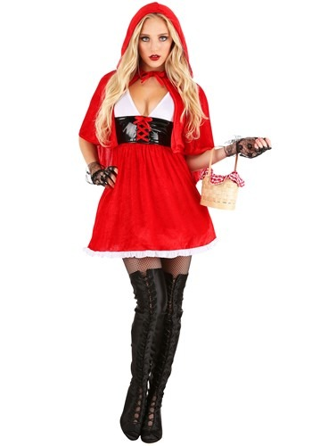 Women's Plus Red Hot Riding Hood Costume Update