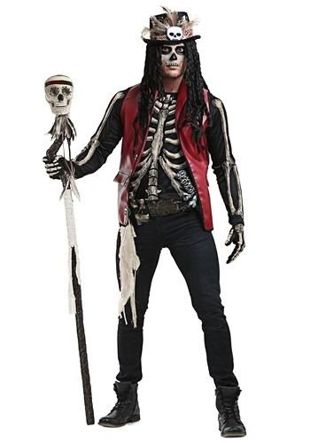 Men's Plus Size Voodoo Doctor Costume