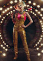 Women's Harley Quinn Gold Overalls Costume Upd