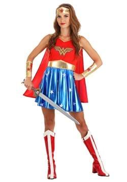 Women's Caped Wonder Woman Costume