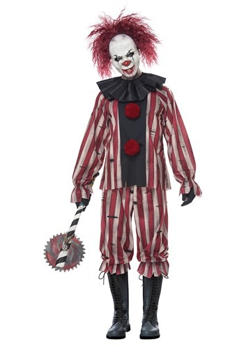 Men's Plus Size Nightmare Clown Costume