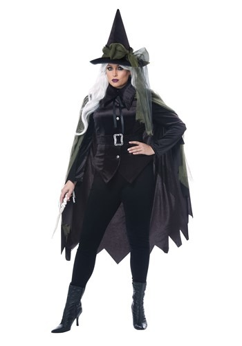 Women's Plus Size Gothic Witch Costume