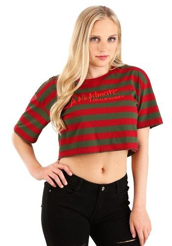 Nightmare On Elm Street Crop Top Shirt